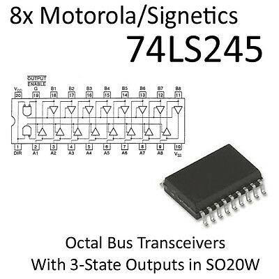 8pcs 74LS245 SO20W SMD Octal Bus Transceivers w 3-State Outputs 74245 in tube