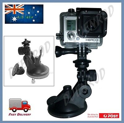 Suction Cup Mount for All GoPro Hero Cameras with Tripod Mount & Nut for Go Pro