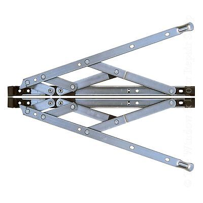"""Pair of 12 """" Inch UPVC Window Friction Hinge Side Hung 17mm Stack"""