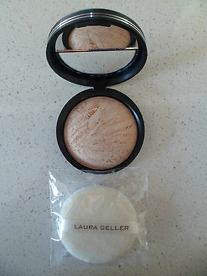 Laura Geller Baked Body Frosting All Over Body/Face Glow 24K GLOW & Puff  9G NEW