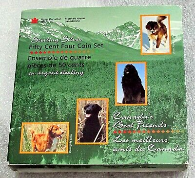 2007 Canada 925 Silver 4 X 1/2 Dollar - 50 Cents Canada's Best Friends Proof