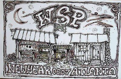 Widespread Panic Atlanta 2006 New Years Eve Concert Poster s/n Blake Wiley WSP