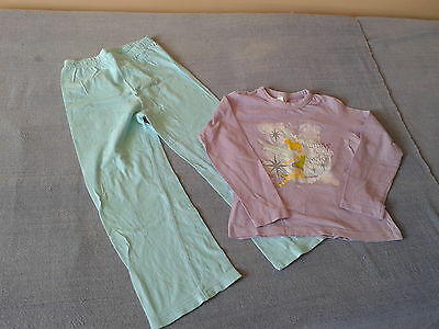 Girls 5-6 Years - Mauve & Turquoise Blue Pyjamas - Disney Fairies - Tinkerbell