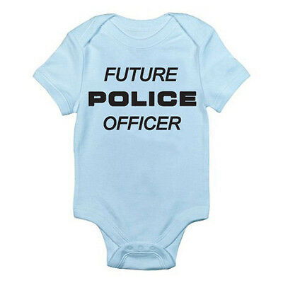 FUTURE POLICE OFFICER - Emergency / Humorous / Novelty Themed Baby Grow / Suit