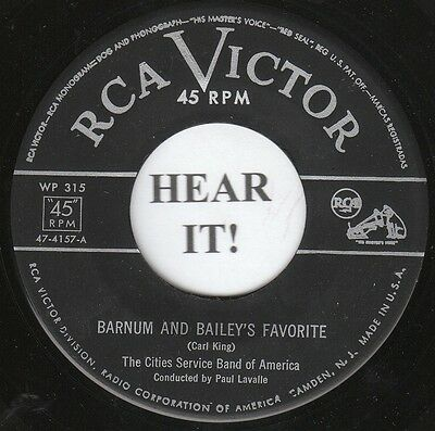 Cities Service Band Of America HISTORY 45 (RCA Victor 315) Barnum & Bailey... M-
