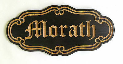 Personalized Dark Oak Old English Family Name Wedding Anniversary Sign Plaque