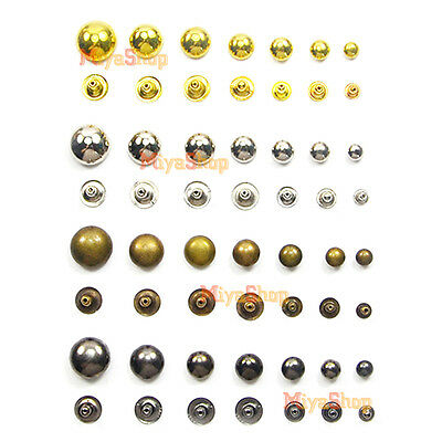 Round Rivet Metal Spike Studs Leathercraft DIY Fashion Biker Rapid Punk Rock