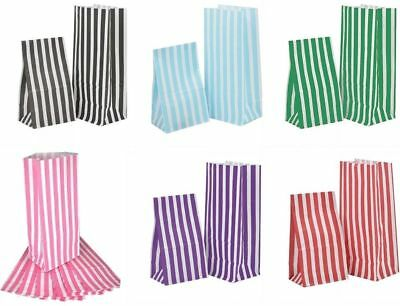 Candy Stripe Paper Party Bags PICK n MIX  Wedding Gifts Loot Sweets -11cm x 25cm