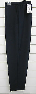 New Ladies Women'S Half Elasticated Waist Trousers With Pockets Sizes 12-24
