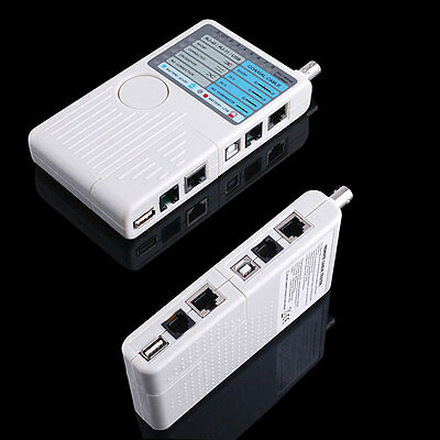 4 in 1 Remote RJ11 RJ45 USB BNC Phone Computer LAN Network Cable Tester Tool