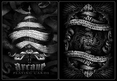 Bicycle Arcane Playing Cards Black Deck by Ellusionist Sealed New