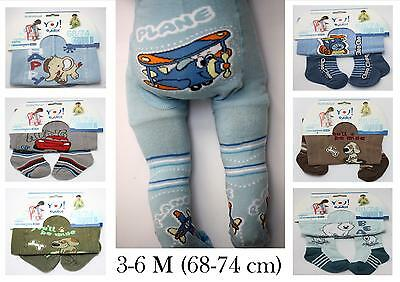 BABY BOYS TIGHTS SOCKS WARMERS LEGGINGS PANTS 3-7 M (68-74cm)