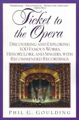 NEW Ticket to the Opera: Discovering and Exploring 100 Famous Works, History, Lo