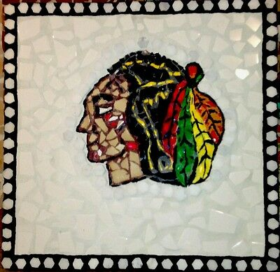 Your Chicago Blackhawks Mosaic Tile Art by Artist Claudia Lenze