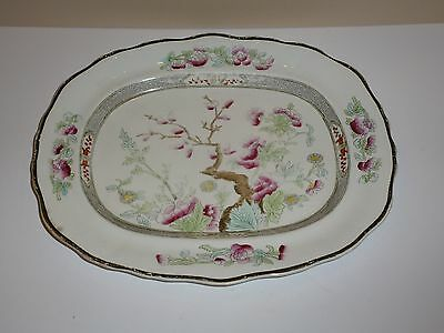 Vintage Burgess & Leigh England Indian Tree Serving Platter