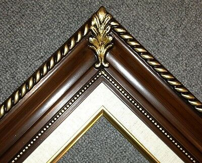 "3.25"" walnut Wood Antique Picture Frame photo art gallery B1W frames4art"