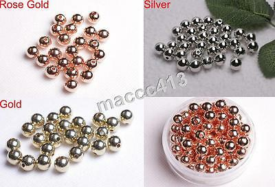 Wholesale 4mm/6mm/8mm/10mm Lot Gold/Silver/Rose Gold CCB Plastic Spacer Bead