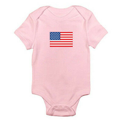 UNITED STATES OR AMERICA FLAG - USA / Stars and Stripes Themed Baby Grow/Romper