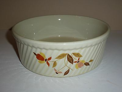 Vintage Hall Round Baker, Multicolor Retro Flowers, Wave Ribbed Body