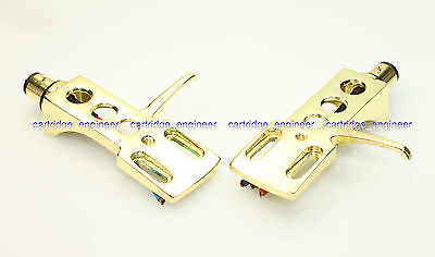 New40pcs/lot luxury ALL Gold plated shiny headshell for turntable Plattenspieler