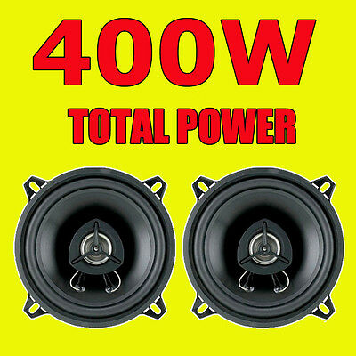 BOSS 400W TOTAL 2WAY 5.25 INCH 13cm CAR DOOR/SHELF COAXIAL SPEAKERS BLACK PAIR