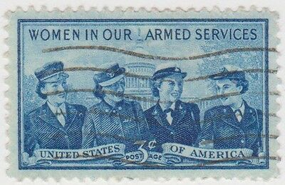 (USB1)1952 USA 3c women in uniforms ow1010