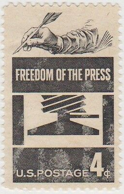 (USB101)1958 USA 4c freedom of the press SG1118