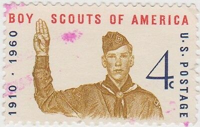 (USB123)1960 USA 4c scout saluting ow1144