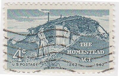 (USB161)1962 USA 4c grey cente of homesteads act ow1197