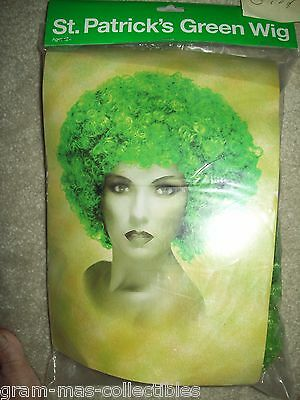 ST PATRICKS DAY CURLY GREEN WIG FOR AGES 12 AND UP