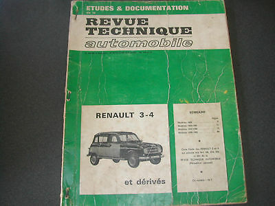 Renault 3  4  Revue Technique  Automobile  Rta