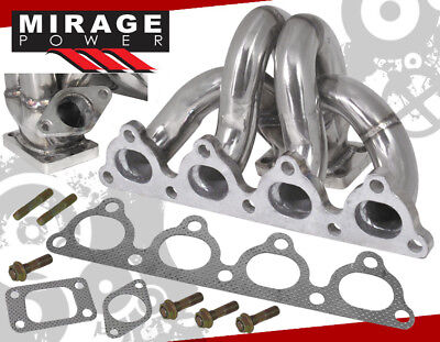 92-00 CIVIC DEL SOL D15 D16 JDM STAINLESS STEEL T3/T4 T3 TURBO EXHAUST MANIFOLD