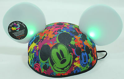 """DISNEY MICKEY MOUSE """"GLOW WITH THE SHOW"""" WORLD OF COLOR EARS HAT - MAGICAL/LIGHT"""