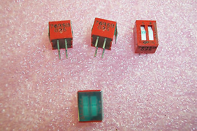 20 pcs 76RSB02S GRAYHILL 2 POSITION  DIP SWITCH RECESSED SLIDE ON-OFF SPST