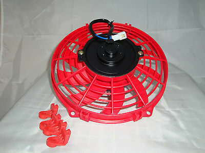 7 Inch 12V Red Electric Cooling Fan Performance Thermo Fan 12Volt