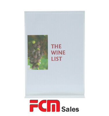 A4 Acrylic Display Stand For Menus Or Signs