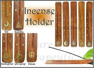 1 INCENSE BURNER HOLDER~BOAT Wicca Magic Pagan Om Buddha YinYang Peace Pentagram