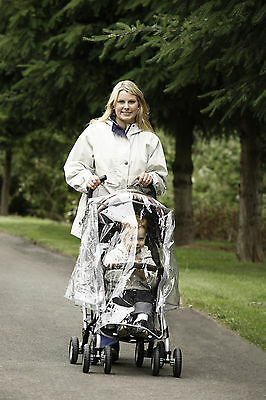 New Diono Stroller Rain Cover Pram Single Carrying Case Air Vents Clear Plastic