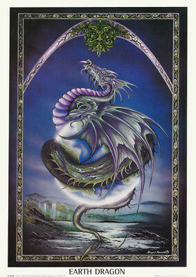 POSTER : FANTASY : EARTH DRAGON -   FREE SHIPPING    #SM0002     LW23 i