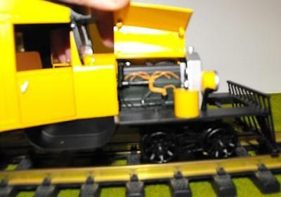 82397 G Gauge Rail truck Bachmann painted 'unlettered' yellow, NEW boxed G Gauge
