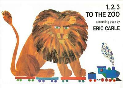 1, 2, 3 to the Zoo by Eric Carle (English) Board Books Book Free Shipping!