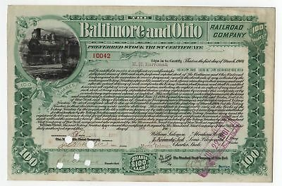 1901 Baltimore & Ohio Railroad Bond -  E.H. Harriman