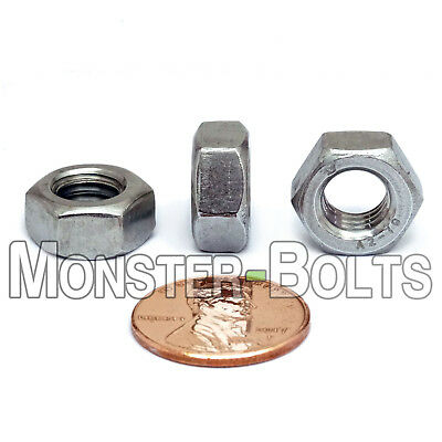 M8-1.25 / 8mm - Qty 10 - HEX NUTS DIN 934 - A2 Stainless Steel Coarse Thread