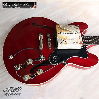KIT UPGRADE style ES-335 micros HUMBUCKER BARE KNUCKLE 3 choix + Electro Vintage
