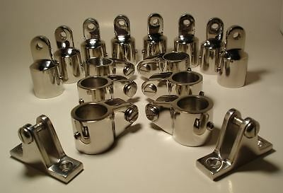 16x 4-Bow 25mm Bimini Top Boat Stainless Steel Fittings Marine Hardware Set os12