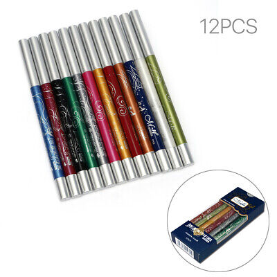 Pro 12 Color Eye Shadow Eyeliner Lip Liner Pencil Cosmetic Makeup Set AU