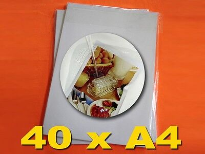 """40 Sheets A4(8.3"""" x 11.7"""") Adhesive Glossy Photo Paper, Water Resistant"""