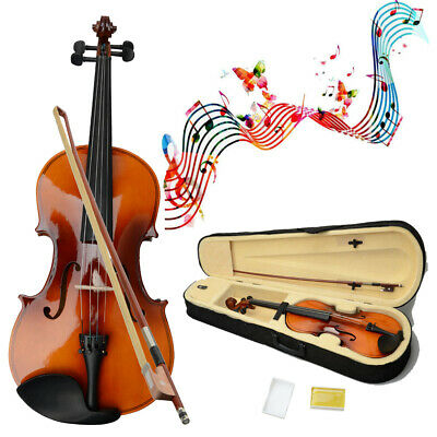 """New 16 Inch Brown Adult Acoustic Viola with Case Rosin Bow 16"""""""