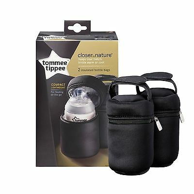 Tommee Tippee Closer to Nature  Insulated bottle bags  2 in a pack  BPA FREE
