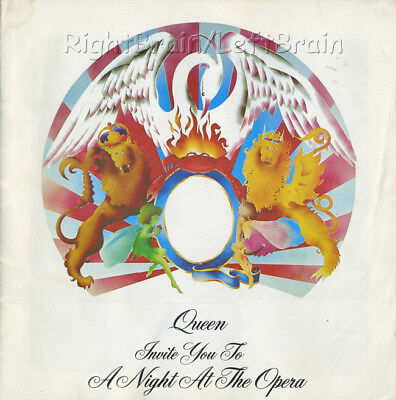 QUEEN 1976 NIGHT AT THE OPERA Tour Concert Program Programme Book FREDDIE MERCUR